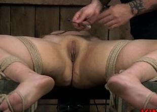 Bondage floozy butt spanking