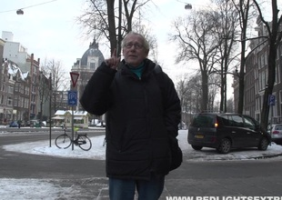 Retired guy visits Amsterdam and bangs a hot whore