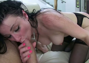 Her facial expression says it all she likes getting fucked in the butt