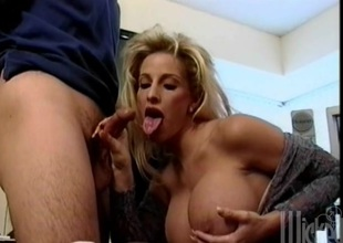 Lovely porn sweetheart J.R. Carrington gets banged with a hawt spunk fountain