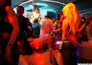 Adventurous European pornstars getting drilled convenient a sex party