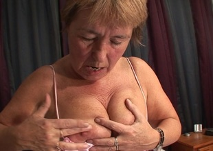 Pierced housewife playing with herself