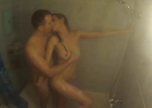 Sasha and Milana take shower jointly