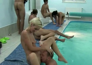 SWIMMING-POOL ORGY On tap CZECH MEGA SWINGERS