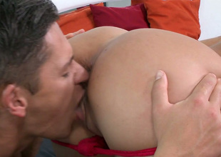 Sassy brunette gal with great body Samia Duarte gets nailed hard