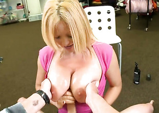 Blonde Charlee Go out after really likes pulsating pole fucking her desirous hands