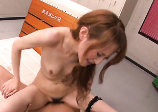 Sexy bodied harlot Mai Shirosaki with tiny breasts touches her muff the way this babe can't live without it