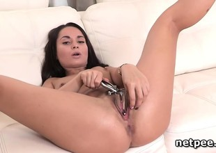 Kristall Rush toying and dildo fucking herself