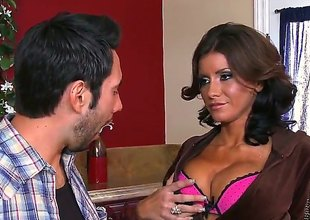 Tommy Pistol gets turned on to the point of no return by Brunette hair Alyiah Stone and then pounds her vagina