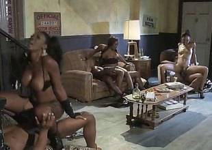 Fiery foursome is where Jada Fire shines the brightest. For both her and her friend, theres a big sombre cock and they take them on like the professionals that they are