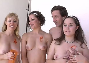 Bobbi starr is taking some photos with a pair of gorgeous hotties with natural scoops and milky soft white skin that he will be fucking the life out afterwards. They look so pleased in these pictures