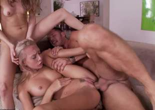Riley Reid is one small and horny little old bag and this babe always loves fucking around. That dark brown bimbo took her good blonde ally and brought her for some threesome fuck fiesta
