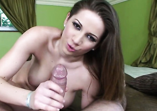 Brunette Nicole Sweet has some time to give some spoken pleasure