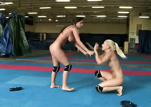 Blonde Sheila Grant and Brandy Smile spend their raunchy energy together