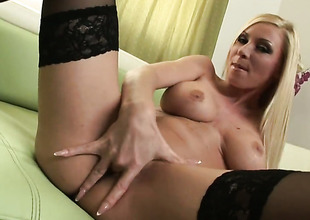 Helena Sweet with massive hooters and shaved bawdy cleft gets the pleasure from masturbating corresponding to never previous to