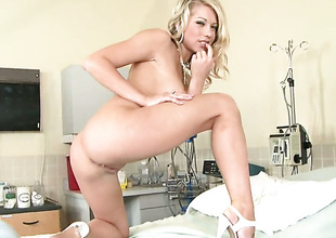 Shawna Lenee strips down to her divest skin to play with herself naked