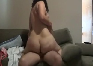Pawg riding dong and getting wazoo spanked