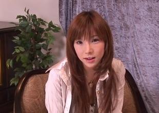 Amazing masturbation show along hawt Serina Hayakawa