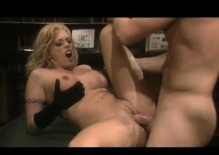 Blond with big mambos needs this hard cock pounding her narrowing cunt