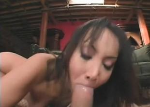 Katsumi is a ravishing Asian girl desirous to take a hard knob up her gazoo