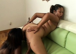 Wicked ebony lesbians have a fun a round of passionate lady loving