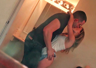 Lovely girl is filmed by her voyeur boyfriend whilst changing