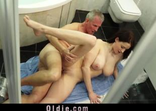 Big melons knockout horny to fuck married oldmen