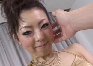 Yuki Asami Japanese milf takes on a really chubby dick
