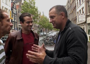 In Amsterdam's red light district this guy gets to fuck a hooker