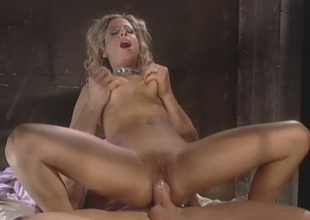 Curly slender and chesty auburn MILF gets her twat nailed missionary