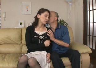 Humble Oriental housewife cheats her husband with a stud