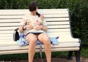 Jeny Smith Bottomless Public Flash No Skirt  No Pants
