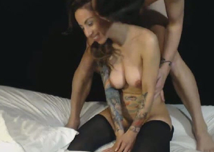 Beautiful Honey Rides Mans Face with Uncovered Pussy