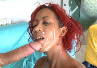 Cuban sucks Dick and gets her Love tunnel licked and fucked