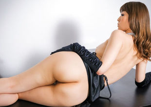 Stunning solo posing along lingerie beauty? Yuria?