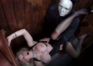 Alluring blond belle Rebecca Moore nailed well in the confessional