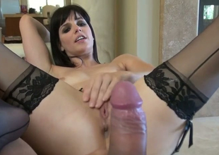 Nasty pulchritude Bobbi Starr gets her butt hole drilled hard by Toni Ribas