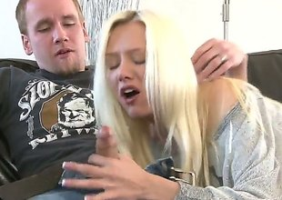 Jeanie Marie Sullivan gets drilled by horny guy the way she loves it