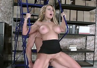 Smoking sexy blond Corinna Blake with huge breasts is a fuck itchy slut. This babe gives nice deep said pleasure ans then gets her hairless powerful cum-hole pumped full of cock. Buxom Corinna Blake is dangerously horny.
