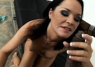 Dakota Redd loves to have a huge funereal cock filling her tight snatch