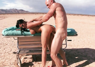 Johnny Sins sticks his meat stick in magically sexy Rachel Starrs mouth