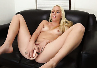 Ashley Stone with phat ass shows off her sexy body as she gets her mouth banged by mans sturdy man meat