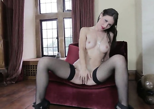 Jess West strips down to her bare skin for your viewing entertainment