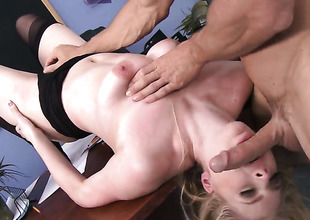 Johnny Sins enjoys extremely hot Danielle Delaunays wet hole in porn action