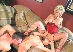 Horny couple have a fun a nasty raunchy meeting with their sexy psychologist