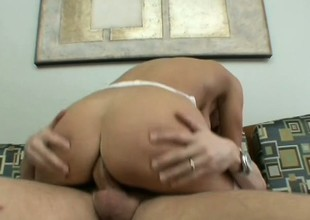Very hawt blond Milf gobbles his jock and lets this lucky dude bang her