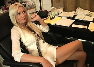 Insatiable blonde Diana Doll seduces one of her employers and he fucks her snatch