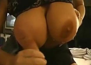 Ball boobs milf sucks dude rod