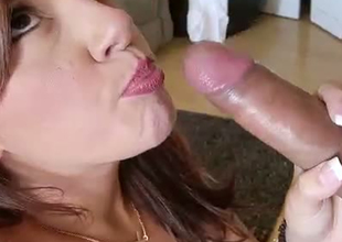 Redhead sassy floosie Rissa is an average cock sucker