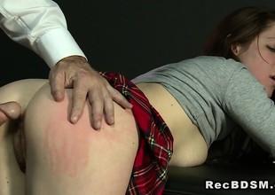 Breasty sub anal banged till jizz flow